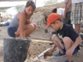 Alumna Robyn LeBlanc excavating at Ashkelon