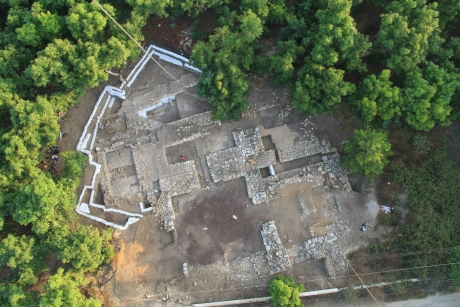 Bird's eye view of Tel Kabri