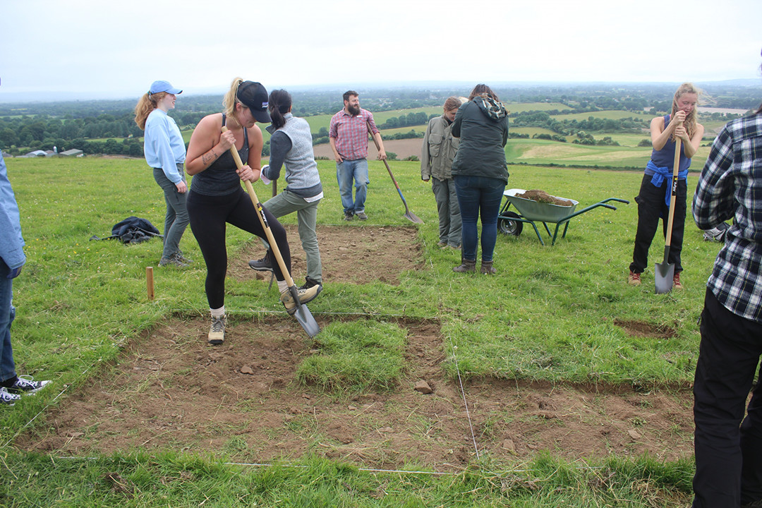 Students on a dig in County Kildare, Ireland