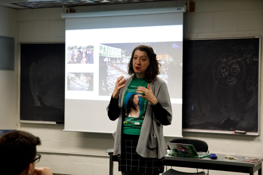 Sarah Richardson, an Anthropology PhD Student, teaching a course